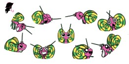 Lollipop Butterfly facial expressions