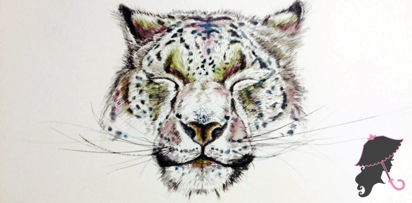 final logo leopard watercolor
