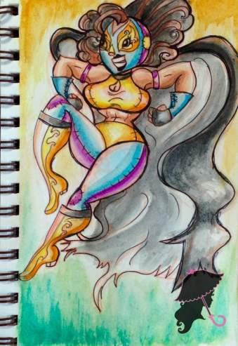 lucha lady sketchbook logo