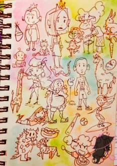 random colorful nologo sketch