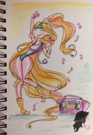 Retro Workout Girl Sketchbook